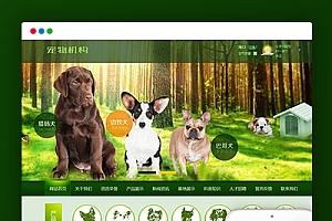 【宠物狗机构类】织梦绿色网站织梦模板带手机端PC+移动端+利于SEO优化