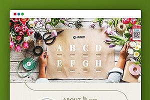 【花卉网站】织梦cms模板 绿色园林源码[自适应手机版]