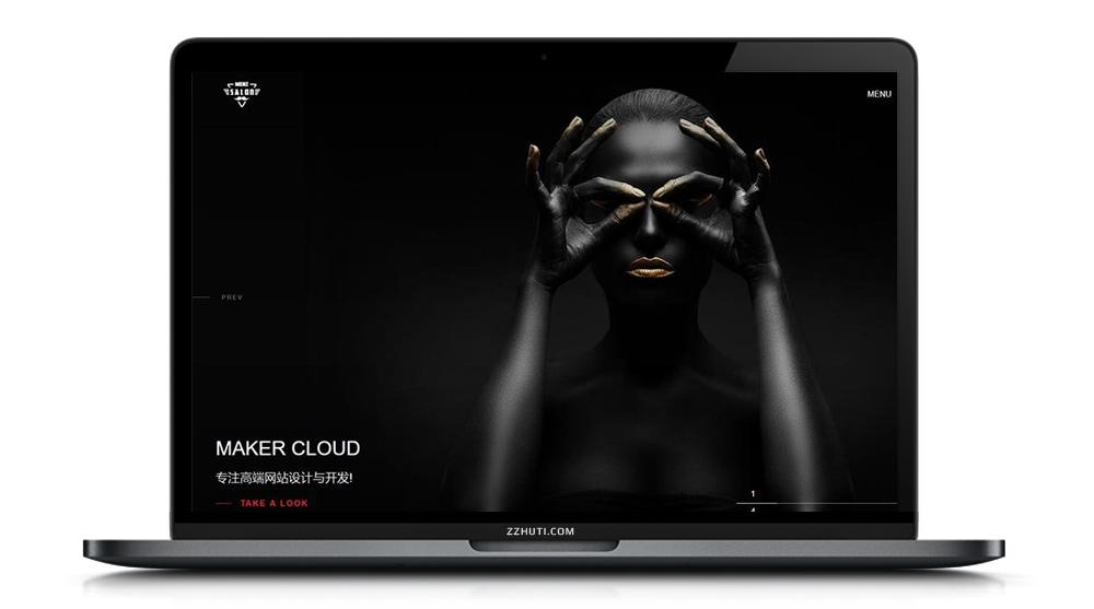 【织梦滚屏摄影企业模板】高端黑色全屏摄影相册艺术公司响应式网站dedecms源码[自适应手机端]-酷网站源码